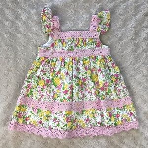 Maggie & Zoe Floral Dress Size 0-3 Months Pink